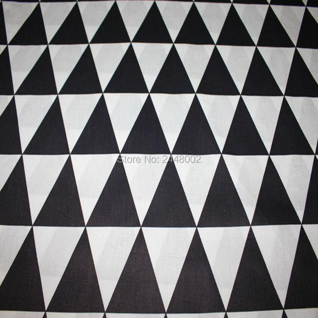 100x160 cm patrones geométricos negro tela de algodón quilting ...