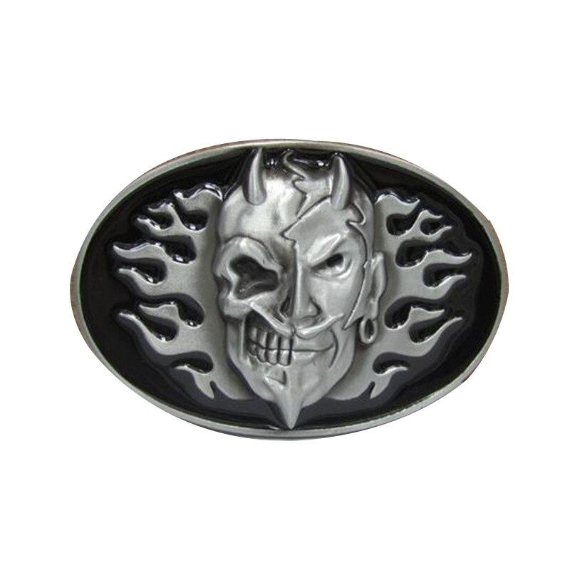 Diablo o mal persona hebillas hombre diseñador cinturón hebillas de metal  para ropa 72c3787059b4