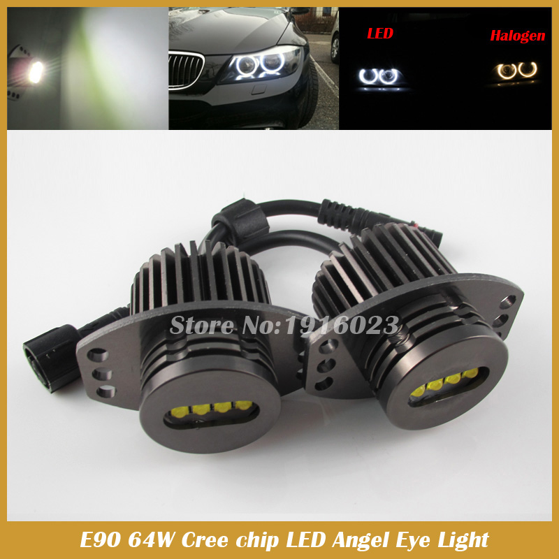 E90 E91 LED Angel Eyes for E90 E91 64W LED Marker headlight halo ring angel eye bulb