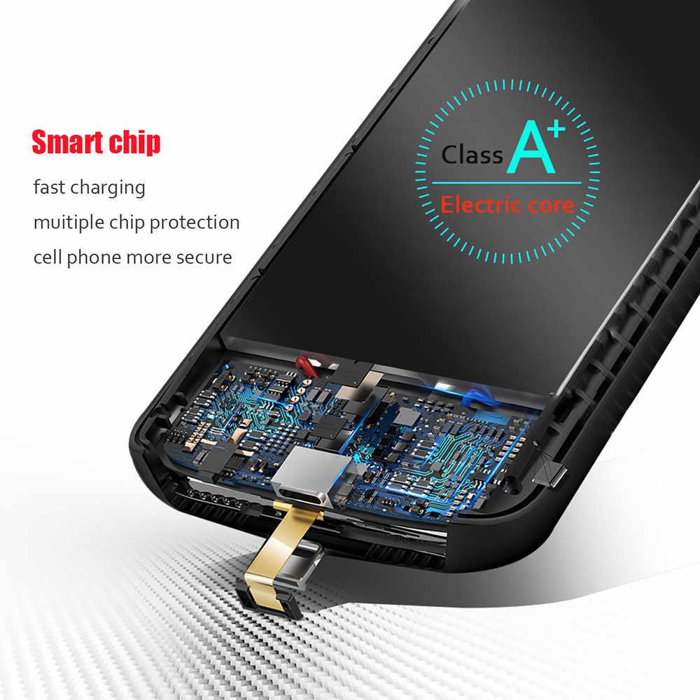 Ốp Lưng Kiêm pin Sạc dự phòng Cho iPhone 7 8 Plus Di Động Sạc Dự Phòng Bên Ngoài Pin Sạc 2800 3600 mAh Power Bank gói Trường Hợp Bao