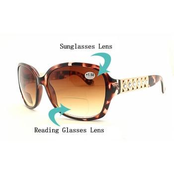 41d78bc0aa Multifocales gafas de lectura gafas de sol de las mujeres mira cerca de  lejos los lentes bifocales gafas de gafas lupa lente R5