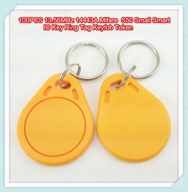 100PCS 13.56MHz 14443A MF1 S50 Small Smart IC Key Ring Tag Keyfob Token100PCS 13.56MHz 14443A MF1 S50 Small Smart IC Key Ring Tag Keyfob Token