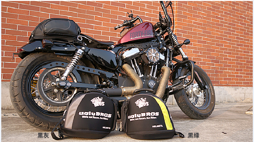 Sac à dos Moto Maletas Par Moto Plongée Tissu Uglybros Ubb-221 Vintage Moto Pleine Face Demi Casque Portable Sac