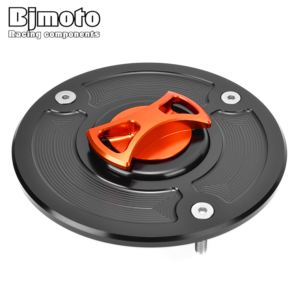 BJMOTO CNC Fuel Tank Cap Oil Cover Motorcycle Accessories For KTM Duke 125 200 390 Duke 2011 2012 2013 2014 2015 2016 Aluminum image