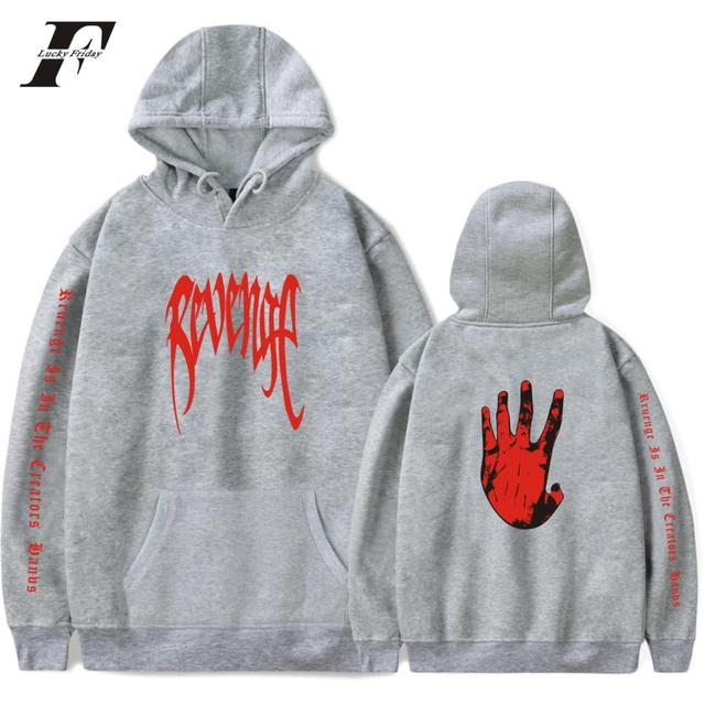 LUCKYFRIDAYF Xxxtentacion Revenge Hoodies Men/Women Sweatshirts Rapper Hip Hop Hooded Pullover sweatershirts male/Women Clothes