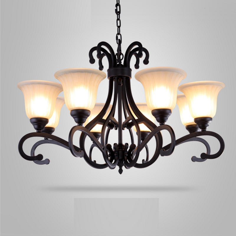 Chic Dining Room Chandeliers: American Chandelier Living Room Pastoral Style Led