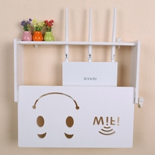 Lovely Wireless Wifi Router Box Wood-Plastic Shelf Wall Hangings Bracket Cable Storage 2 Size Home Decor 7 Styles!!