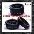 Negro de Aleación de Aluminio Anillo de Extensión Macro AF Enfoque Automático TTL Electrónico tubo Para Canon EOS 50D 600D 70D 1D4 1000D EF-S EF Len