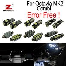 18 шт. номерной знак светильник светодиодный лампы Интерьер плафон комплект для Skoda Octavia 2 MK2 MKII 1Z5 Combi недвижимости Wagon (2005-2012)