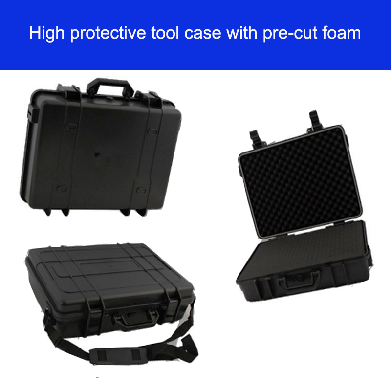 high quality Tool case toolbox waterproof safety equipment case camera bag Impact ABS box with pre-cut foam lining