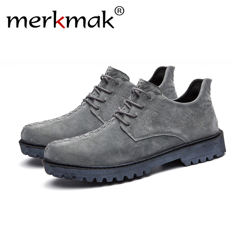 Merkmak New Comfortable Genuine Leather Casual Shoes Loafers Men Shoes Quality Split Leather Shoes Men Flats Moccasins Shoes men shoes 2017 new comfortable split leather casual shoes loafers quality men flats moccasins shoes size 39 44 602m