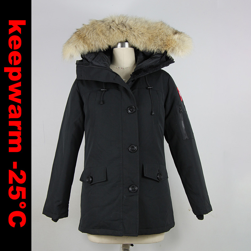 2018 Brand New Womens Winter Warm Duck   Down     Coat   Waterproof Windstopper MonteBello Parka Real Big Coyote Fur