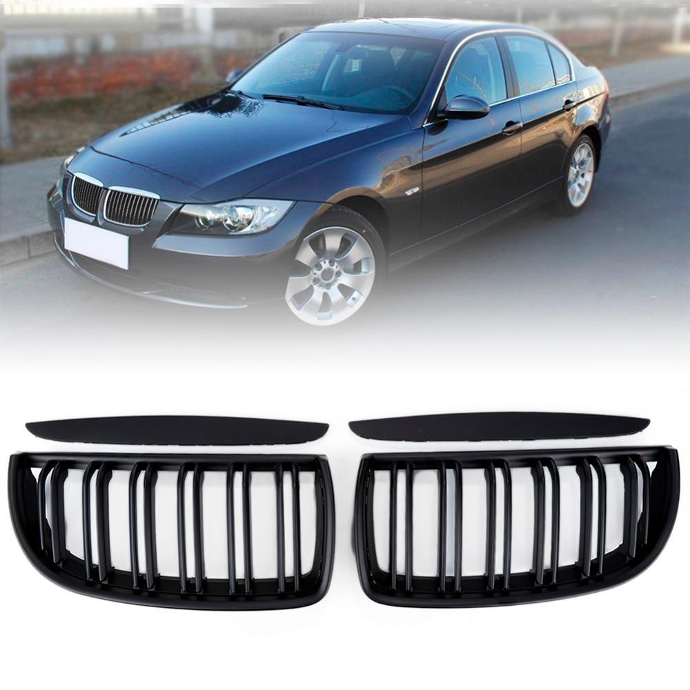 Liplasting Left Right Matte Black Front Kidney Grilles Replacement for BMW 2005-2008 E90 320i 323i 328i 335i Sedan/Wagon XNC 2 x grilles left