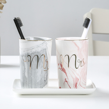 Bathroom Tumblers Toothbrush Cup Wash Tooth Mug Wash Gargle Suit Cup High Quality Ceramic Material Wash Cup 2