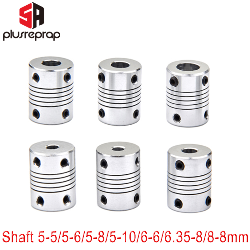 1 PC Flexible Coupling Coupler Shaft 5mm 6mm 6.35mm 8mm 10mm Motor Jaw Shaft Coupler With 4 Setscrews Stepper Motor 3D Printer