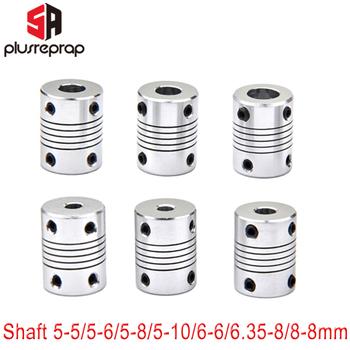 1 PC elastyczne sprzęgło sprzęgło wału 5mm 6mm 6 35mm 8mm 10mm silnik szczęki sprzęgło wału z 4 śruby ustalające silnik krokowy drukarki 3D tanie i dobre opinie 5Aplusreprap CN (pochodzenie) Elastyczny łącznik sprzęgła Flexible Coupling 5 to 8mm coupling 8 to 8mm coupling 5 to 6mm coupling