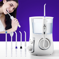 Tackore 5pcs Tips Water Dental Flosser Dental Irrigator Water Jet 800ml Oral Hygiene Dental Flosser Water Flossing