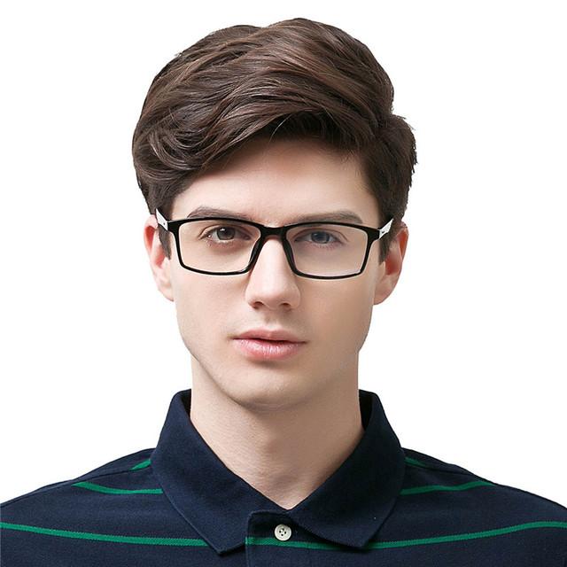 Tr90 armação de óculos homens mulheres óculos de computador anti radiação lentes de resina azul com película transparente masculino eyewear para homens titanium óculos