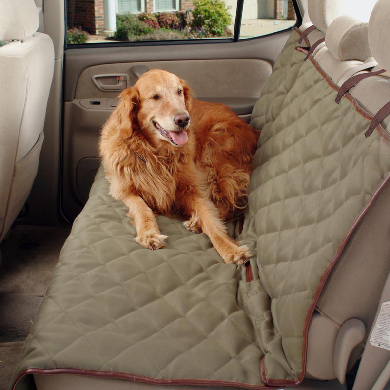 62283 Deluxe Winter Warm Dog Waterproof Bench Mats Pets Back Seat Cover Dog Bed Driving Cushion For Auto Travel