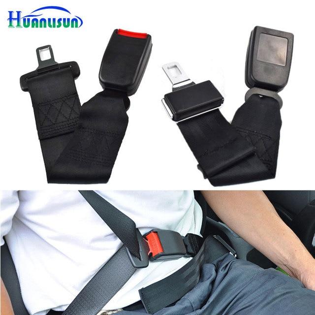 HUANLISUN Car Seat Belt Extender Seatbelt Extention Safe Black Type Interior Accessories