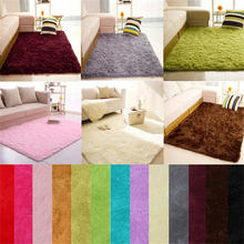 New Quality Soft Fluffy Rugs Anti-Skid Shaggy Area Rug Dining Room Home Bedroom Carpet Floor Mat 40*60cm Dropshipping &109