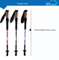 2 piecesWalking Stick Carbon Straight Grip Telescopic Stick Handle Cork EVA Tungsten Hiking Trekking Pole Camping Equipment trek