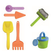 6Pcs Soft Baby Plastic Shovel Rake Bucket Watering Can Watering Pot Inflatable Beach Toy Play Sand Toy  Kids Gift