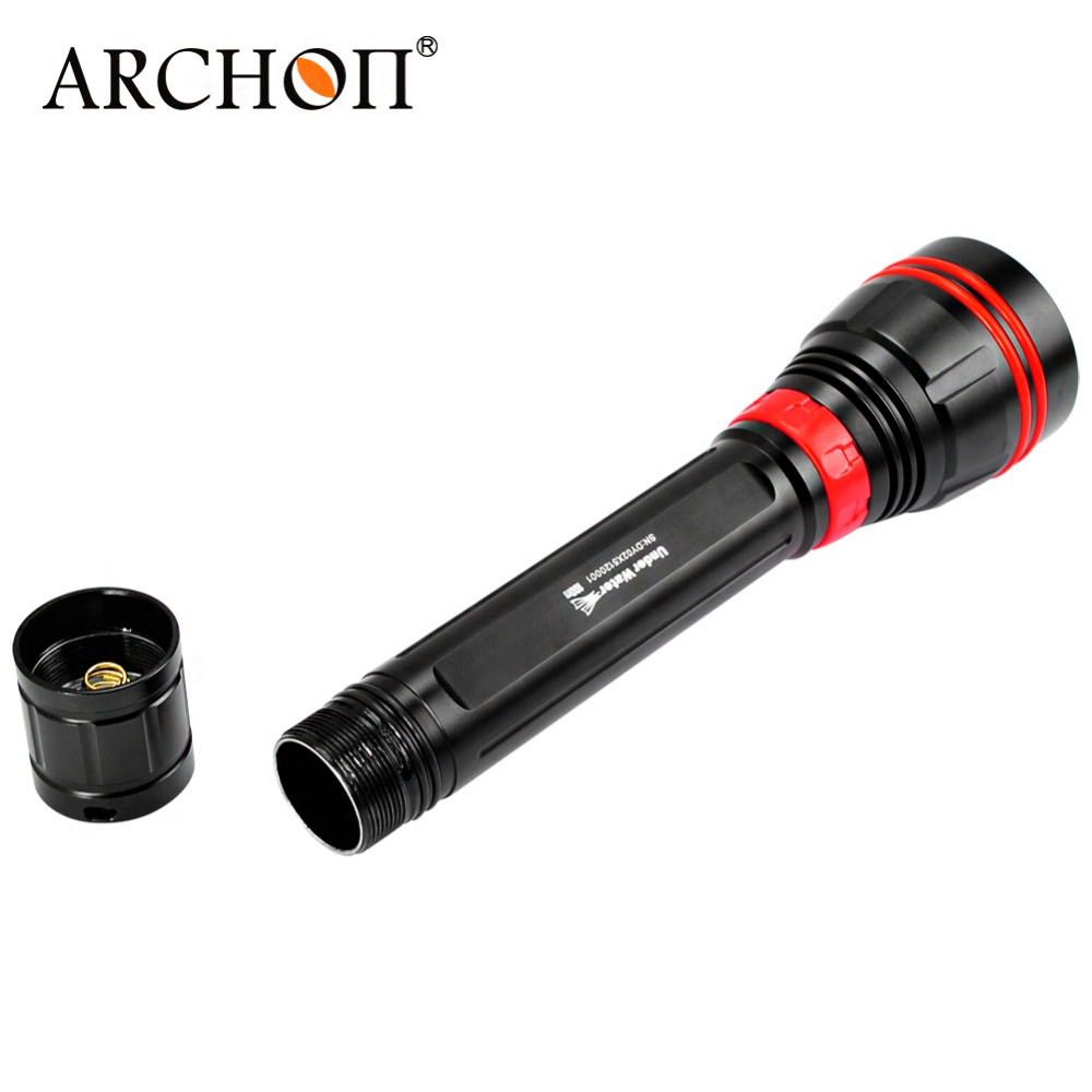 Free shipping Archon DY02 DY02-W 4000lumens 6500K Diving Light Underwater Torch with Battery and Charger Included