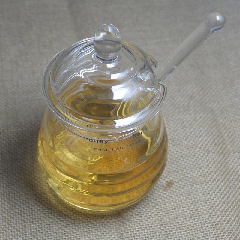 High-grade transparent glas honig glas marmelade küche gewürz ...