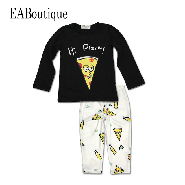 cb084d4b2c492 US $4.99 |Free shipping Fashion Fancy baby boy clothes Drawing Pizza with  Cola drink Long sleeve 2 piece set-in Clothing Sets from Mother & Kids on  ...