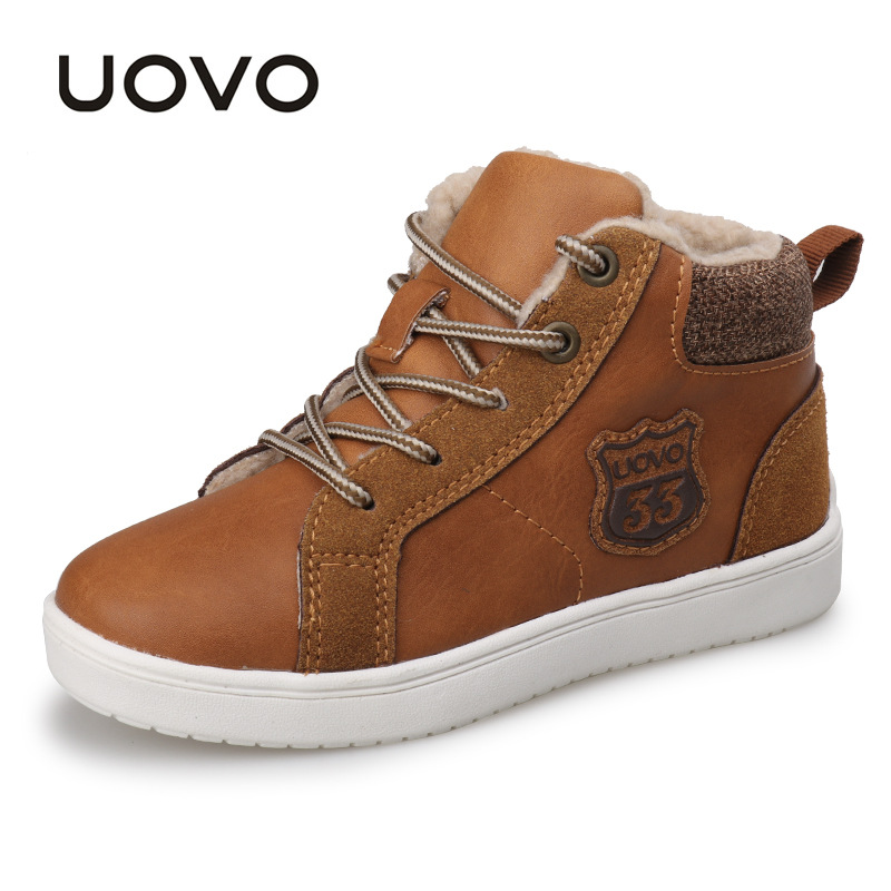 UOVO 2017 new autumn winter walking shoes fashion boys casual shoes children sneaker warm comforable kids