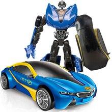 Transformation Kids Classic Robot Cars Anime Series Alloy Action Figur Leksaker Transformation Robot Car Model Toy för barn gåva