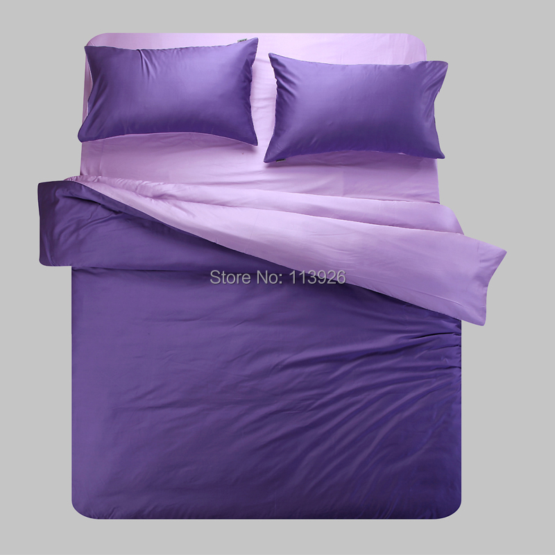 2014 new style 4 piece double faced bedding set duvet