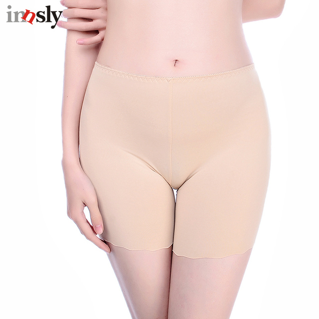 79fd568e079 Innsly Safety Short Pants Under Skirts For Women Boyshorts Panties Seamless  Big Size Female Safety Boxer