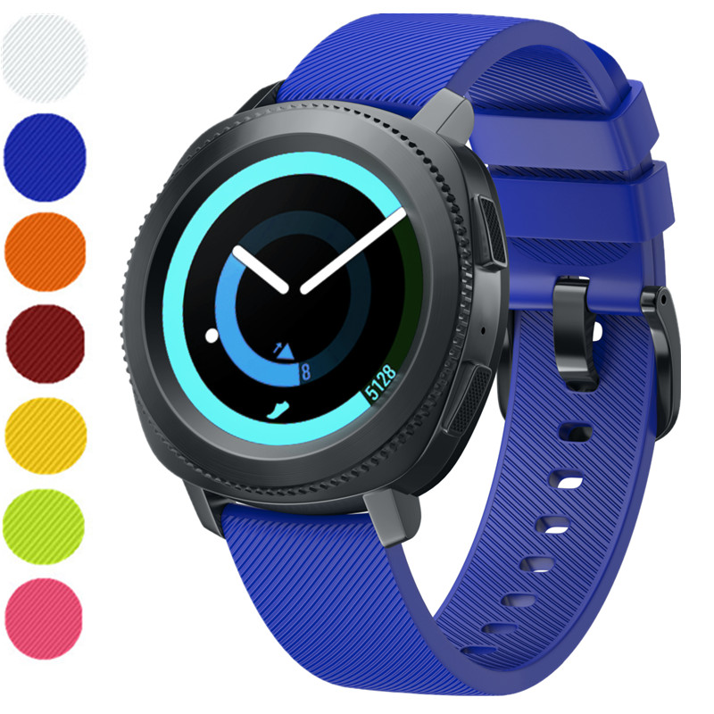 ASHEI Silicone Bracelet Band For Samsung Gear Sport Strap 20mm Silicone Sport WatchBand For Gear Sport Smart Watch Straps Belt crested sport silicone strap for samsung gear s3 replacement bracelet rubber band for samsung gear s3 watch band