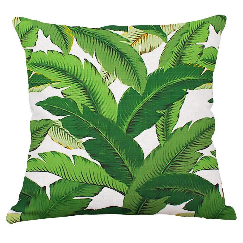 Yaşıl yarpaqlar Tropik Bitkilər Banan Yarpaqları Canna Monstera - Ev tekstil - Fotoqrafiya 4