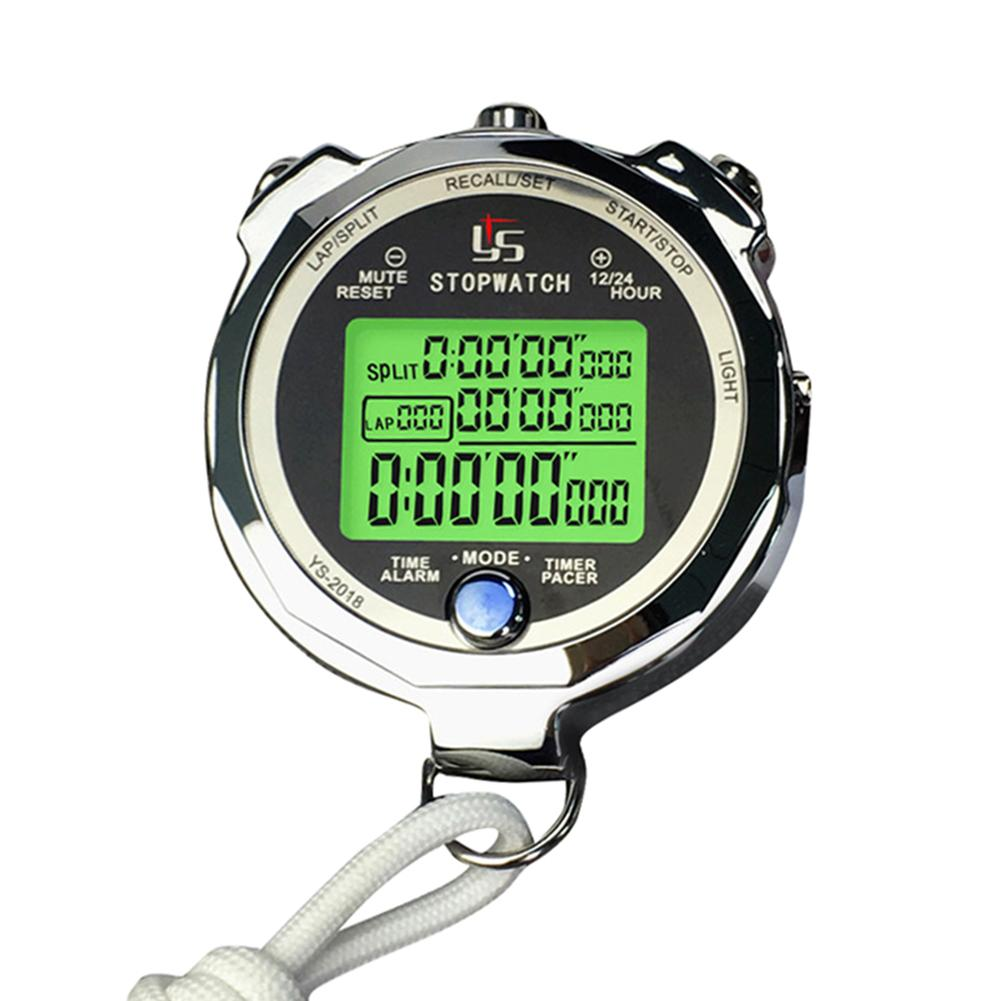 Professional Digital Stopwatch Timer Multifunction Handheld Training Timer Portable Outdoor Sports Running Chronograph Watch