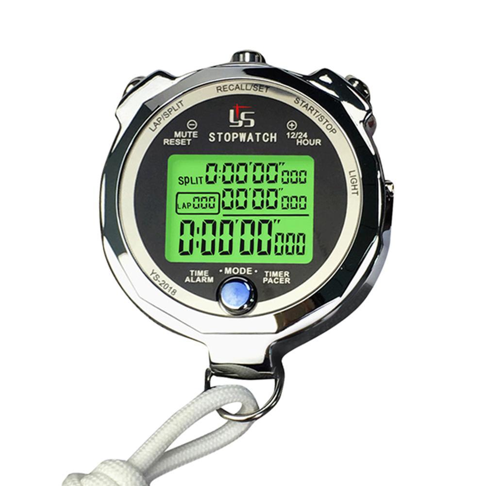 Professionelle Digitale Stoppuhr Timer Multifunktions Handheld Ausbildung Timer Tragbare Outdoor Sports Lauf Chronograph Uhr