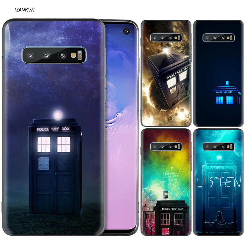 Tardis Box Doctor Who Black Silicone Case for Samsung Galaxy M20 S10e S10 S9 M10 S8 Plus 5G S7 S6 Edge Phone Soft Cover Coque
