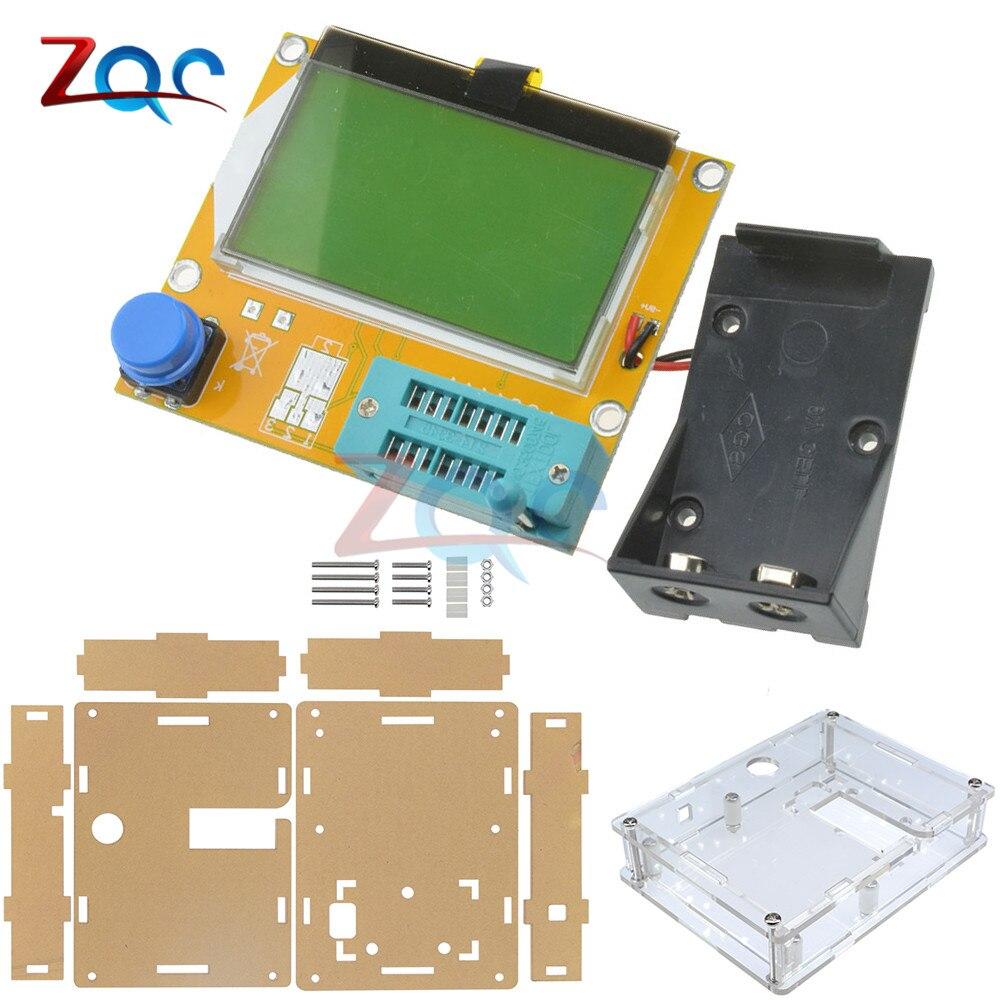 LCR-T4 Mega328 M328 Multimetr Transistor Tester ESR Meter Backlight Diode Triode Capacitance ESR Meter MOS PNP NPN LCR W/ CASE