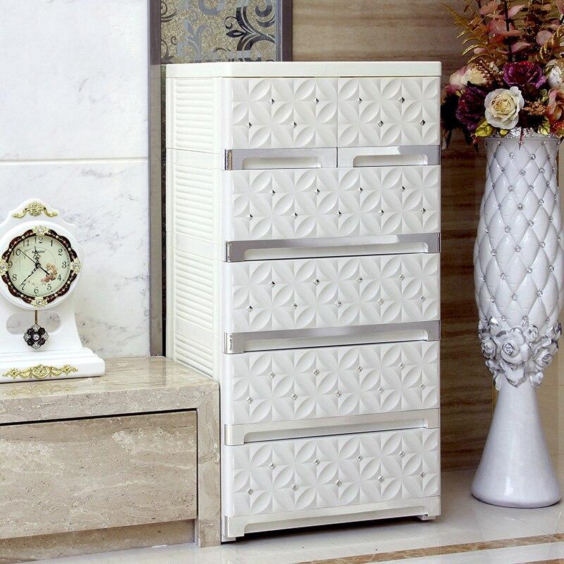 European Style Plastic Organizer Drawer Storage Box 5 Floors Organizer Cabinet For livingroom bedroom for rangement clothes food