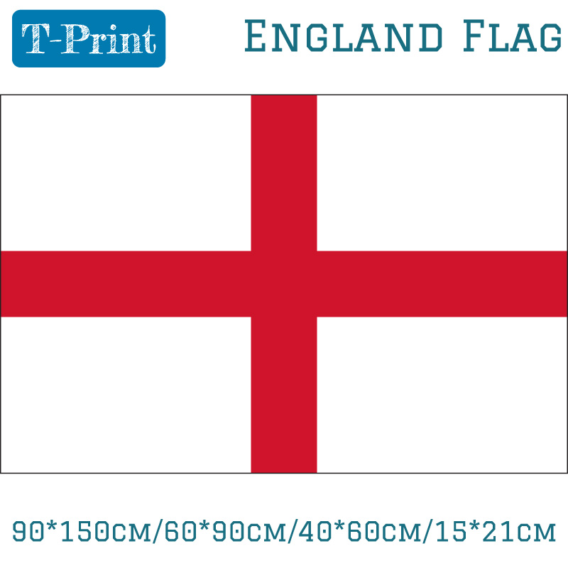 90*150cm/60*90cm/40*60cm/15*21cm England Flag 5*3 FT For EuroCup Event Office Home decoration