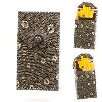 Модный ультра тонкий настоящий жемчуг, Натуральная Кожа Ящерицы, женская тонкая раскладушка, изысканная Подарочная коробка, защитный чехол