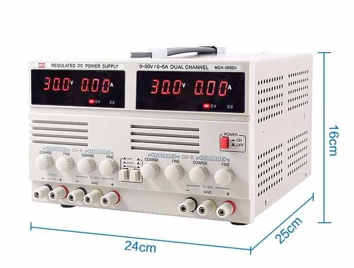 McH303d-ii digital display dual - circuit adjustable dc power supply 30V3A experimental power cell phone maintenance dps5005 adjustable dc digital control power supply 12v24v high power mobile phone maintenance power suites dc depressurization m