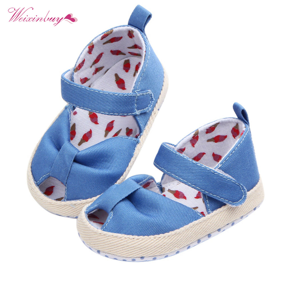 Infant Sneakers Us 2 6 32 Off New Baby Shoes Girls Summer Cotton Fabric Crib Shoes Bebe Newborn Infant Sneakers Toddler Soft Sole Prewalkers In First Walkers From