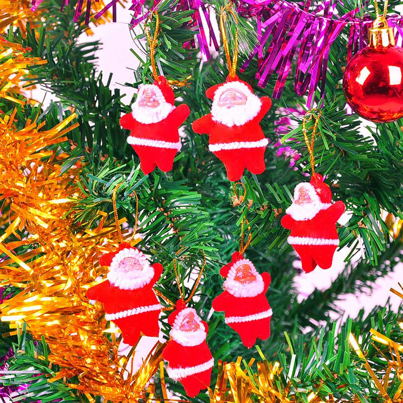 Mini Christmas Tree Ornaments.Us 0 49 30 Off Merry Christmas Ornaments Santa Claus Dolls Xmas Pentants Hanging Mini Christmas Tree Decorations For Home New Year Party Gifts In