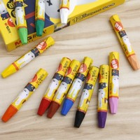 BF010 Oil Pastel Stationery 12 Colors Crayons Dazzle Colour Non Toxic Soft Crayon 19 5 8