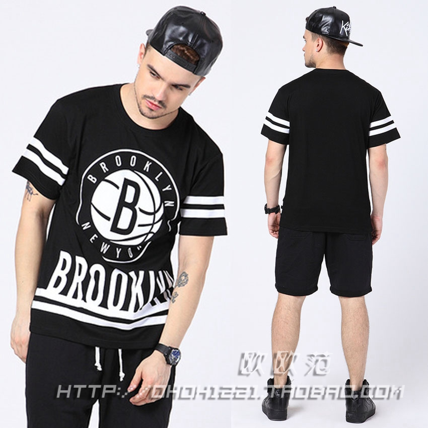mens t shirts fashion 2015 Summer vintage men clothes casual street short-sleeve shirt male hip hop brooklyn print tee - Hiphop Dance's Club store