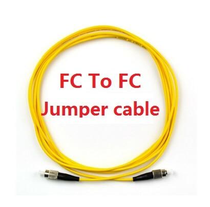 все цены на 10PCS/Lot 3M 10ft FC to FC Yellow Fiber Patch Cord Jumper Cable SM Simplex Single Mode Optic for Network онлайн