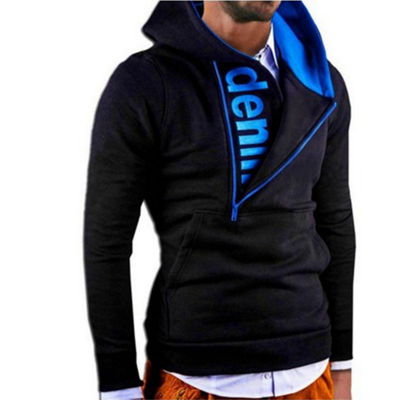 2016 Hoodies Men Sudaderas Hombre Hip Hop Mens Brand Oblique Spell Color Zipper Hoodie Sweatshirt Suit